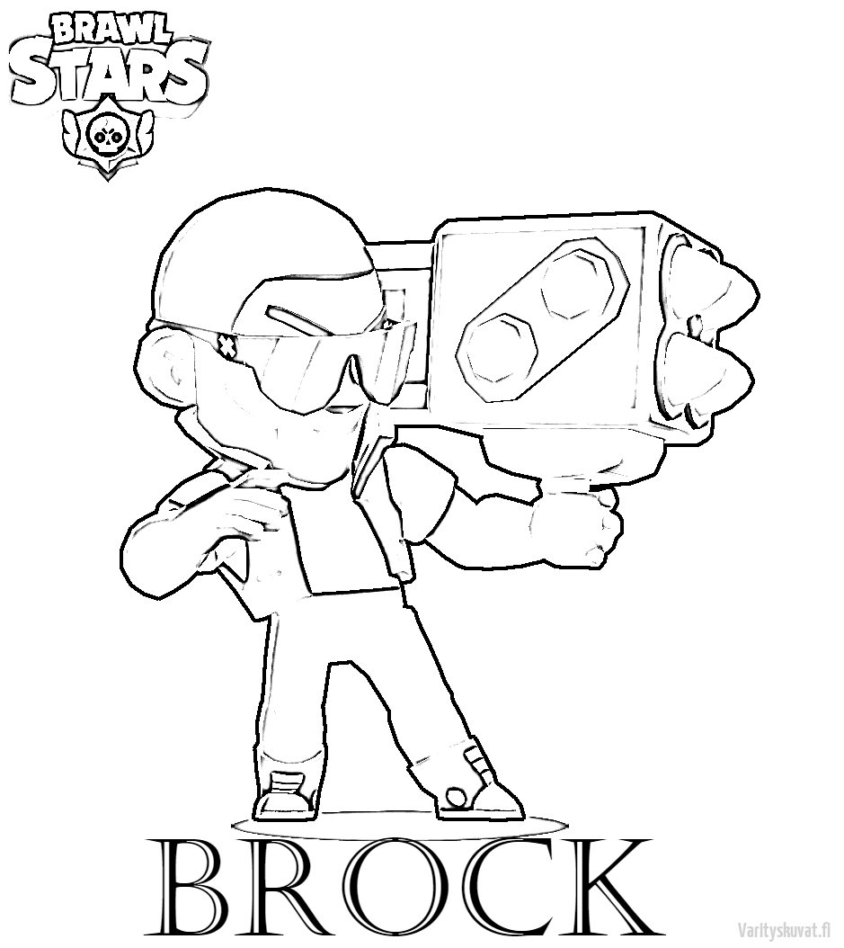 Brawl-Stars-Värityskuvat-Brock