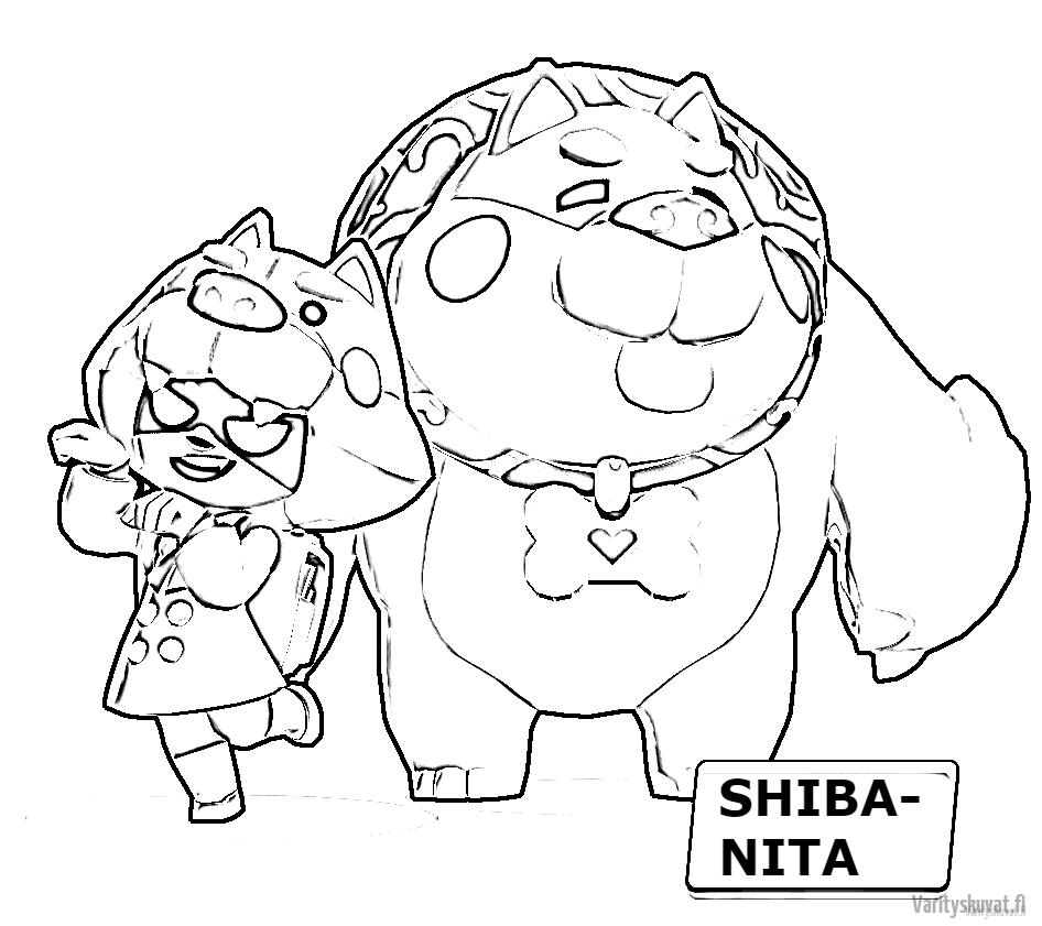 värityskuvat-brawl-stars-Shiba-nita