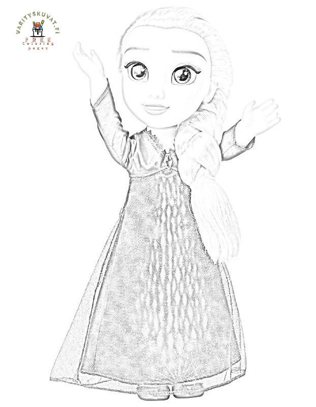 Frozen värityskuva, Frozen värityskuvat,Frozen värityskuva 2